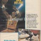 Magazine Paper Print Ad With Kareem Abdul Jabbar For L.A. Gear