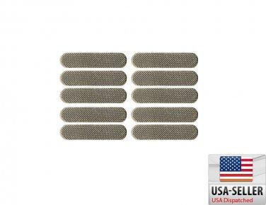 US Seller 10pcs iPhone 3 3G 4 4G 4S Mesh Anti-Dust Ear Speaker Adhesive Grill