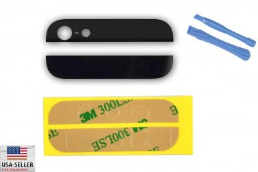 Back Rear Cover Case Up Down Glass for iPhone 5 5G Black Adhesive Pry Tools