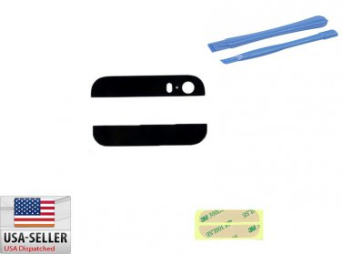 Back Rear Cover Case Up Down Glass Replacement for iPhone 5S Black Adhesive Pry Tools