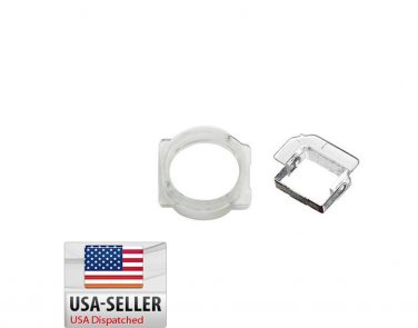 iPhone 5 5c 5s Light Sensor & Front Camera Holder Set Bracket Plastic Clip Ring