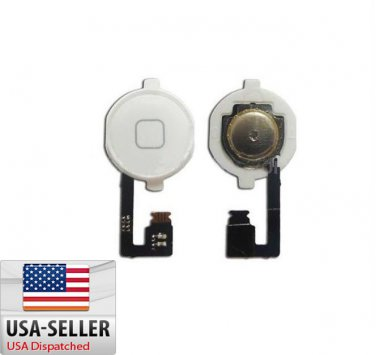 New Black Home Menu Button Flex Cable + Key Cap assembly for Apple iPhone 4 4G