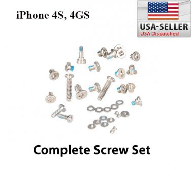 Complete Full Screws Set With 2 Botton Pentalobe Screw Replacement Apple iPhone 4S CDMA GSM A1387