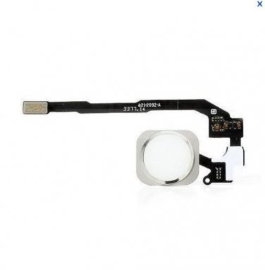 White Home Button Flex Ribbon Cable Touch ID Sensor Assembly For iPhone 5S
