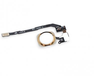 Gold Home Button Flex Ribbon Cable Touch ID Sensor Assembly For iPhone 5S