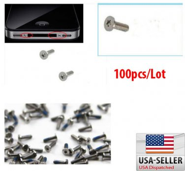 100X 5 Point Star Pentalobe Bottom Dock Replacement Screws for iPhone 4 4G 4S