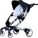 4moms Origami Power Folding Stroller - Silver