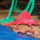 Multiple Plastics Corporation (MPC) 1960s Dimetrodon Red; Prehistoric Reptile