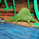 Multiple Plastics Corporation Post-1970s Recast Dimetrodon Dark Army Green; Prehistoric Reptile