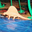 Multiple Plastics Corporation (MPC) Post-1970s Recast Dimetrodon Light Tan; Prehistoric Reptile