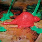Multiple Plastics Corporation (MPC) 1960s Prehistoric Mammal Glyptodont, Red