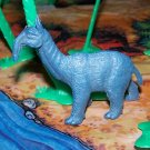 Multiple Plastics Corporation (MPC) 1960s Prehistoric Mammal Macrauchenia, Blueish Gray