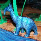 Multiple Plastics Corporation (MPC) 1960s Prehistoric Mammal Macrauchenia, Metallic Blue