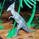 Multiple Plastics Corporation (MPC) 1960s Dinosaur  Parasaurolophus, Flat to Metallic Gray