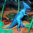Multiple Plastics Corporation (MPC) 1960s Dinosaur Parasaurolophus, Metallic Blue