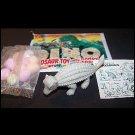 SCARCE 1988 Topps Plastic Dinosaur Ankylosaur, Gray, Wrapper, ID Sheet, Candy Eggs