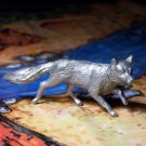 Marx Fox, North American Wild Animals Series, Silver-colored, Recast