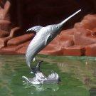 Post-1970s Marx Sea Creatures: Sword Fish, Recast, Silver-colored Plastic