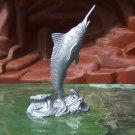 Post-1970s Marx Sea Creatures: Marlin, Recast, Silver-colored Plastic