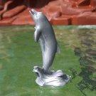 Post-1970s Marx Sea Creatures: Dolphin, Recast, Silver-colored Plastic