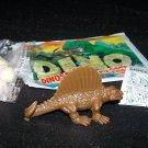 SCARCE 1988 Topps Plastic Dinosaur Dimetrodon, Brown, Wrapper, ID Sheet, Candy Eggs