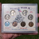World War II Obsolete Coin Collection, Silver War Nickels, Wheat Cents
