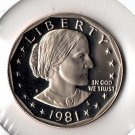 U.S. 1981-S Proof Susan B. Anthony Dollar