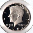 U.S. 1981-S Proof Kennedy Half Dollar