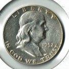 U.S. 1952-D Franklin Half Dollar 90% Silver