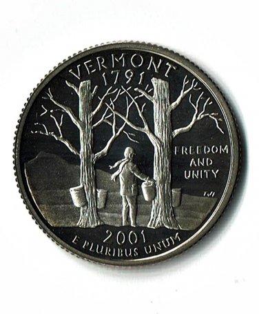 U.S. 2001-S Proof Vermont State Washington Quarter
