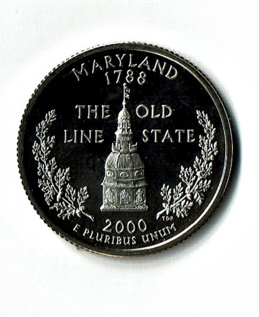 U.S. 2000-S Proof Maryland State Washington Quarter