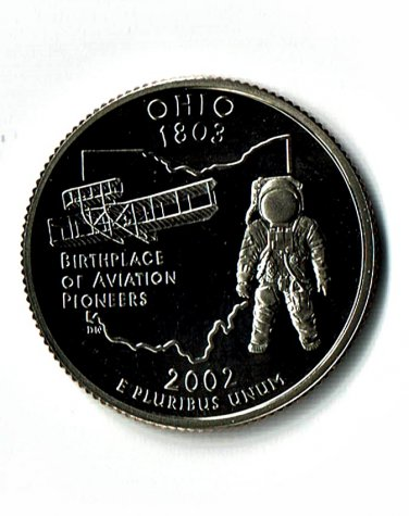 U.S. 2002-S Proof Ohio State Washington Quarter