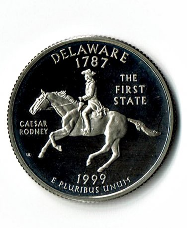 U.S. 1999-S Proof Delaware State Washington Quarter