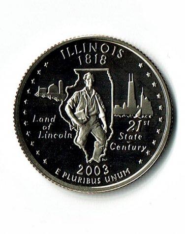 U.S. 2003-S Proof Illinois State Washington Quarter