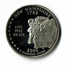 U.S. 2000-S Proof New Hampshire State Washington Quarter