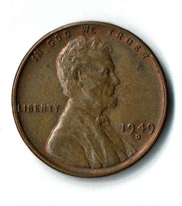 U.S. 1949-D Uncirculated/Red Brown Lincoln Cent
