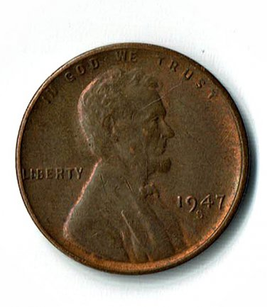 U.S. 1947-S Uncirculated/Red Brown Lincoln Cent