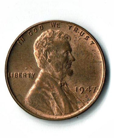 U.S. 1947-D Uncirculated Lincoln Cent