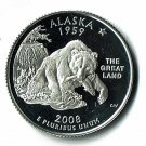 U.S. 2008-S Proof Alaska State Washington Quarter