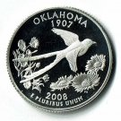 U.S. 2008-S Proof Oklahoma State Washington Quarter
