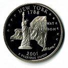 U.S. 2001-S Proof New York State Washington Quarter