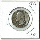 U.S. 1945 Washington Quarter 90% Silver, Circulated