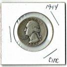 U.S. 1944 Washington Quarter 90% Silver, Circulated