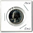 U.S. 1966 Washington Quarter, From Special Mint Set, Uncirculated