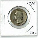U.S. 1936 Washington Quarter 90% Silver, Circulated