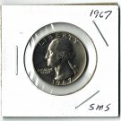 U.S. 1967 Washington Quarter, From Special Mint Set, Uncirculated