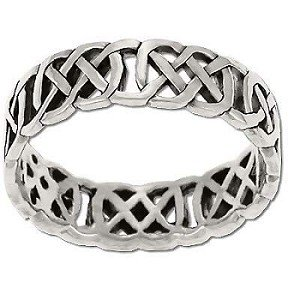 Sterling Silver Celtic Figure 8 Knot Band Ring
