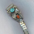 VTG. EXPANSION WATCH BAND, TURQUOISE, CARNELIAN