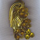 ANTIQUE GOLDEN TOPAZ DRESS CLIP
