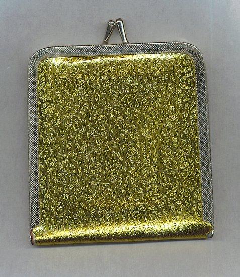 VTG. GOLD LAME' FOLDING MIRROR